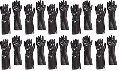 "West Chester 12018 18"" Chemical vUbzjNZ Resistant Gloves, Large, Black (Pack of 10 Pairs)"