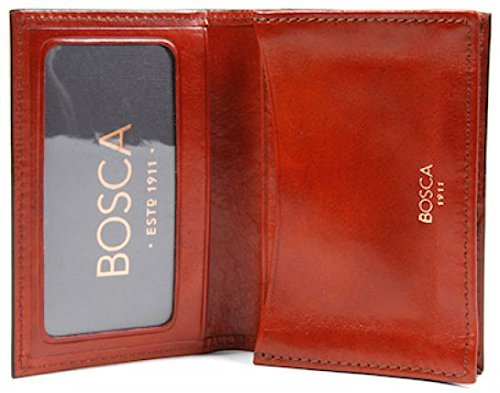 Bosca Men's Old Leather Collection - Gusseted Card Case (Cognac)
