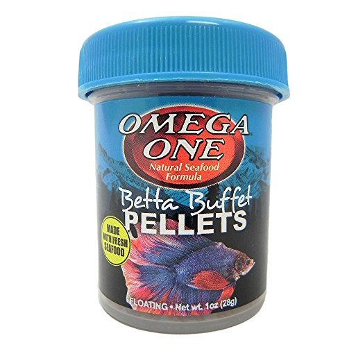Omega One Betta Buffet Pellets Betta Food, .61 oz.