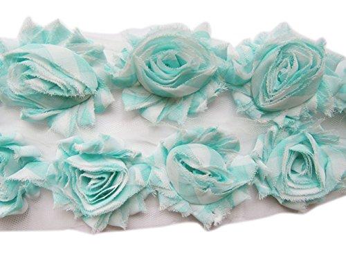 YYCRAFT Shabby Chiffon Fabric Flowers 2.5