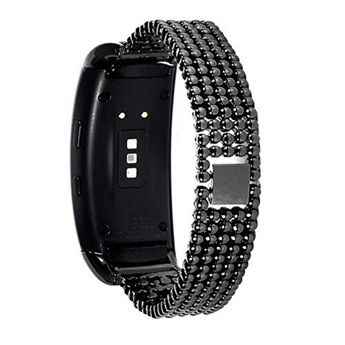 For Samsung Galaxy Gear Fit2 SM-R360, Oksale Luxury Stainless Steel Ball Bracelet Smart Watch Band Strap