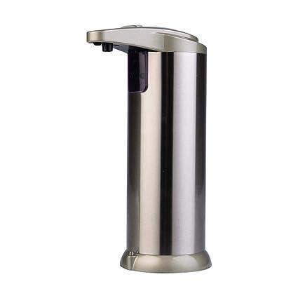 Dispensador de jabón automático para mujer, dispensador de jabón manos libres, base sólida resistente