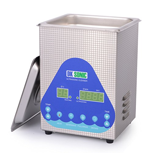 Brass Retainer (Lab Large Ultrasonic Cleaner Heated - DKSONIC 2L 60W with Basket and Digital Timer for Parts Jewelry Gun Brass Eyeglass Ring Carburetor Contact Lens Injector Glasses Record Diamond Circuit Board)