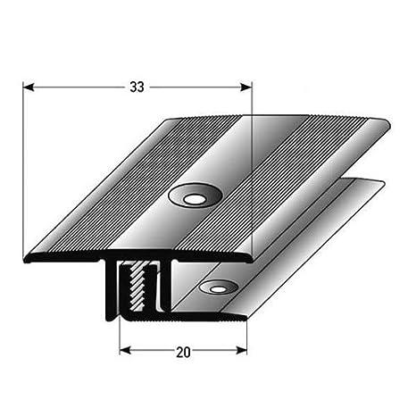 silber eloxiert /Übergangsprofil Laminat // Parkett 7-15 mm Einfassung gebohrt Alu