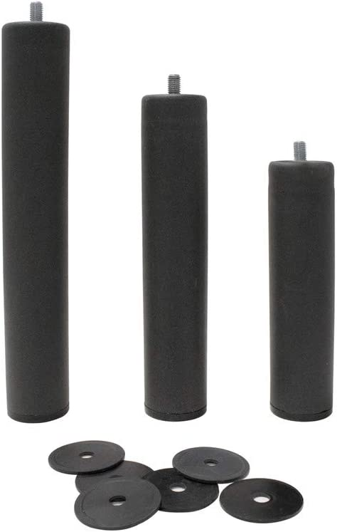 Patas Metálicas Redondas - Rosca de Metrica 10 (1 cms) - Packs de 4 uds de 10 cms: Amazon.es: Hogar