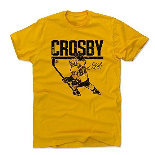 (500 LEVEL Sidney Crosby Cotton Shirt (X-Large, Gold) - Pittsburgh Penguins Men's Apparel - Sidney Crosby Hyper K)