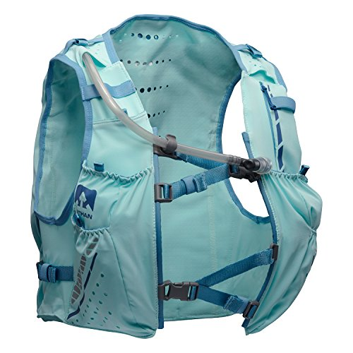 Nathan NS4538 Vaporhowe Hydaration Pack Running Vest with 1.8L Bladder, Blue Radiance, Small