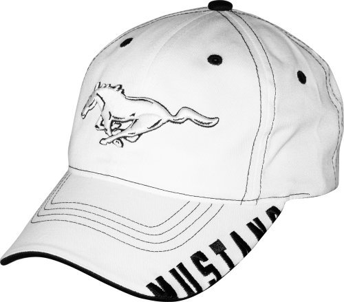 Ford Mustang White and Black Hat