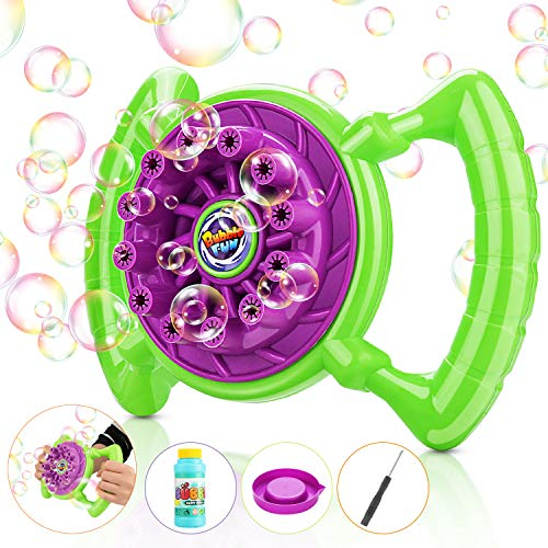 Magicfun Bubble Machine, Kids Bubble Blower 800+ Bubbles per Minute Hand-held Bubble Toys Boys Girls Gifts Bubble Maker for Outdoor Or Indoor Use (Bubble Solution Included)