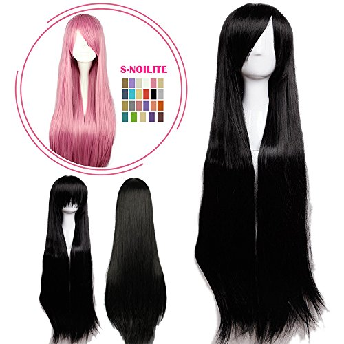 Top 5 Female Halloween Costumes - S-noilite Cosplay Wig Real Thick Heat Resistant Synthetic Hair Halloween Anime Hair Costume Full Head Wigs For Womens Girls (40