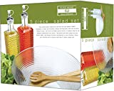 Euro-Home EW65041 5 Piece Glass Salad Set, Multicolor