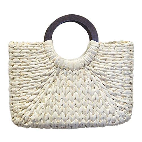 Bag Crossbody Handbag Trends Shoulder Women's white 2 HopeEye Fashion Handbags Womens Bag Handmade Straw Straw APqSq1v