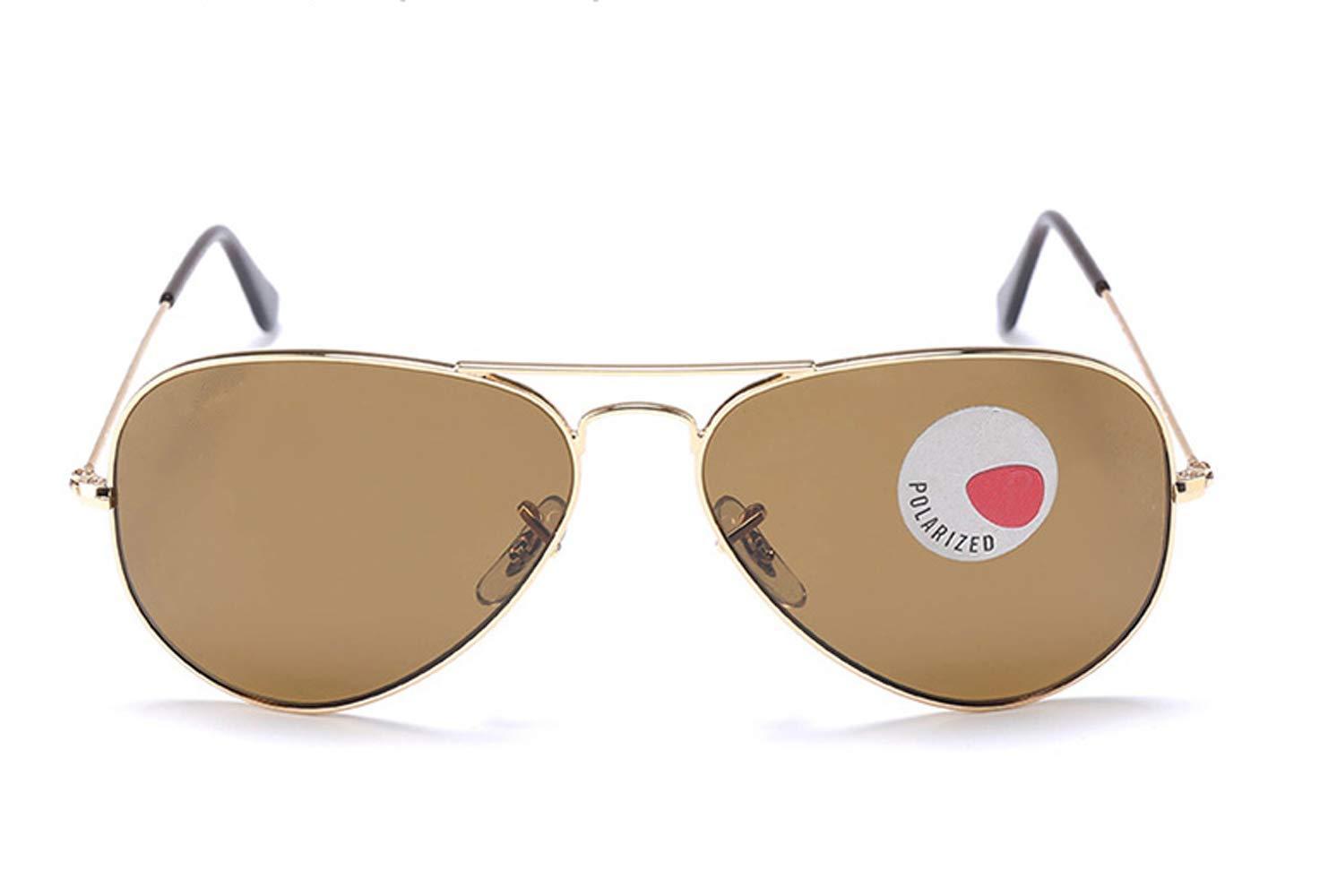RAXRAY RB3025 Aviator Metal Sunglasses Gold Frame Light Brown Lens