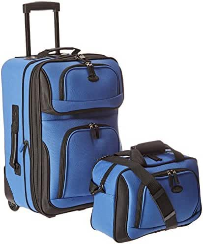 U.S Traveler Rio carry-on lightweight expandable rolling luggage suitcase set (15-Inch and 21-Inch)