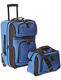 Travelers Choice US Traveler Rio Expandable Carry-On Luggage Set, One Size, 2-Piece (Royal Blue)
