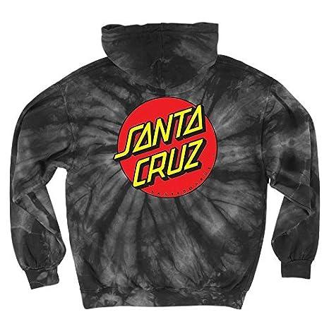 7ec7d4de3aaa Amazon.com  Santa Cruz Skateboards Classic Dot Hooded Pullover Sweatshirt  (Large