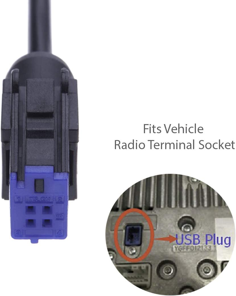 USB Cable Audio Adapter Cable by Keple Vehicle Female USB Type A Port Interface Connector Lead to Upgrade Radio Stereo Navigation System For Car Head Unit