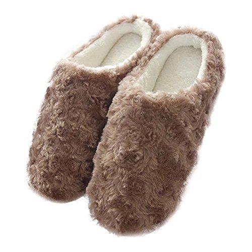 Eastlion Damen & Kinder Lovely Winter Warm Halten Draussen Plüsch Home Innenbereich Schuhe, Sippers Farbe 8