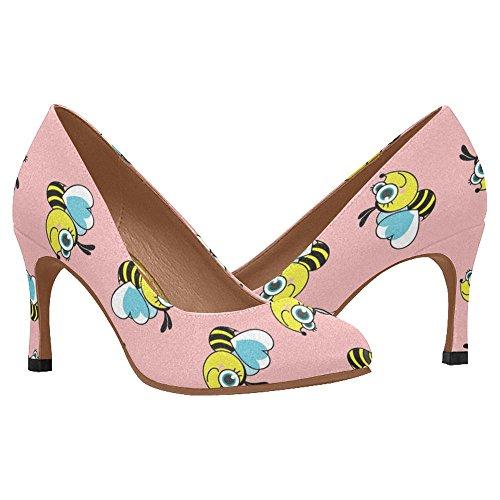 InterestPrint Womens Fashion High Heel Dress Pump Shoes Multi 5