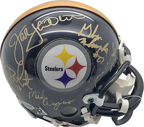 Signed Steel Curtain Mini Helmet - Greene Blount Shell Beckett BAS - Beckett Authentication - Autographed NFL Mini Helmets