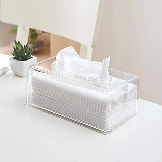 Kuizhiren1 - Caja de papel para pañuelos, transparente: Amazon.es ...