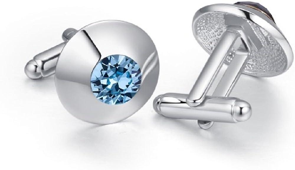 Boutons de manchettes or cristal bleu aigue-marine ovale~manchette manchette Cristal Pochette Cadeau S/électionnez Or