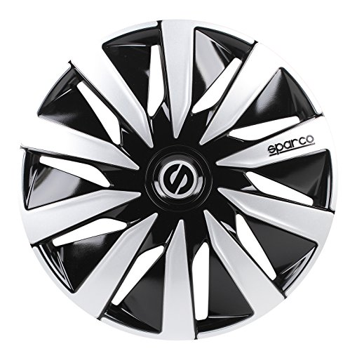 Sparco SPC1491BKSV wheel covers Lazio 14-inch black/silver: Amazon.co.uk: Car & Motorbike