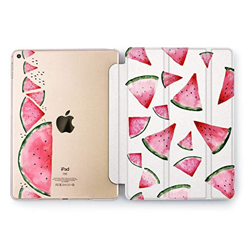 Wonder Wild Watermelon Slice Watercolor Case iPad Mini 1 2 3 4 Air 2 Pro 10.5 12.9 Tablet 2018 2017 9.7 inch Juicy Design 5th 6th Generation Original Cover Fruits Print Slices Clear Plant Pattern]()