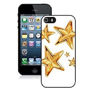Iphone 5S Case,Golden Christmas Tree Decoration Stars Apple Iphone 5 5S Protective TPU Case