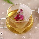 HuntGold 100Pcs String Empty Teabags Heat Seal Filter Herb Tea Leaves Bag 5.5cm*6cm