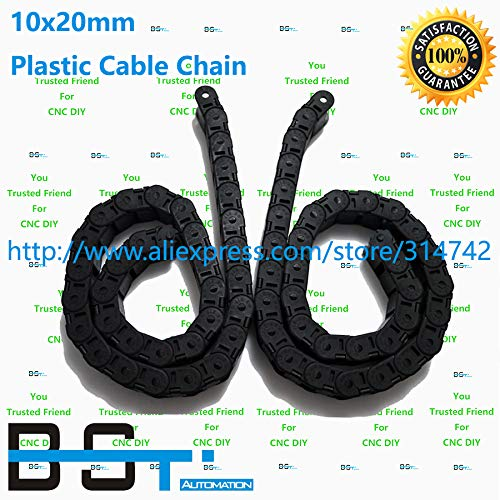 Ochoos 5 Meters 10mm20mm CNC Plastic Cable Drag Chains TP 10x20 Cable Carrier for CNC Router Machine Tools