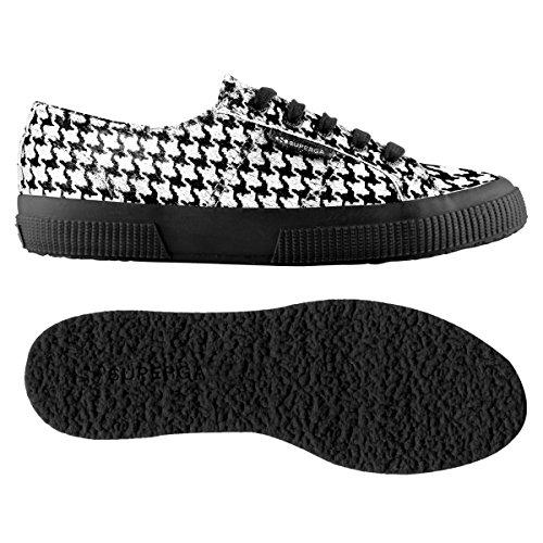 WHT adulto 2750 PIEDDEPOULEBLACK Superga Leahorseu Sneaker Unisex 0YaA1