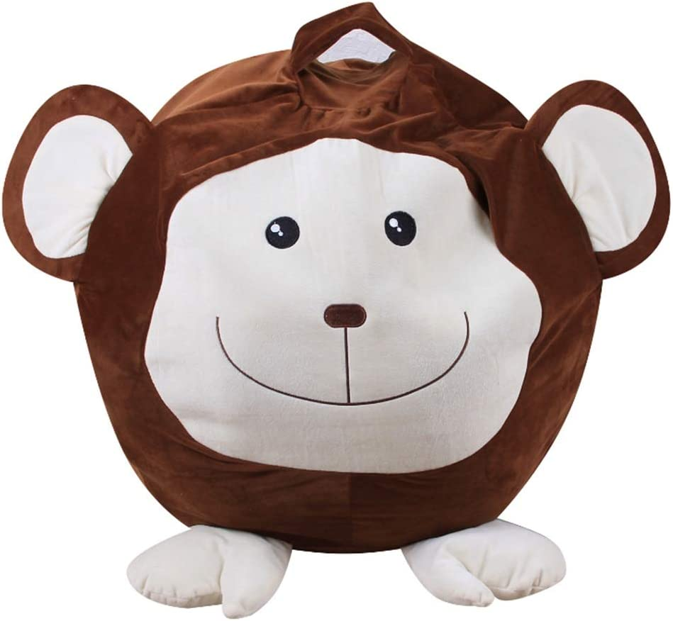 Filled Animals Bean Bag Storage Bag Tissue Plushs Animals Quality Stuffed Storage Box Childrens Household Items Color : Brown