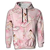 Paskcc Men's Hoodie Best Tops Shirt Coat With Cap Ballet Dance Girl Gymnast