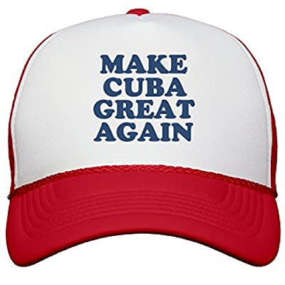 Make Cuba Great Again Hat: Snapback Mesh Trucker Hat