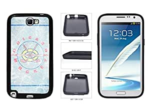 Light Blue Cracked Ice Chicago Hockey pc pc SILICONE Phone Case Back Cover Samsung Galaxy Note II 2 N7100