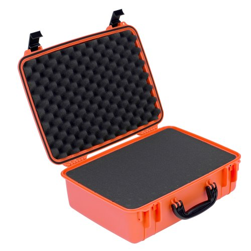 Seahorse 720F Waterproof Protective Hard Case with Foam, Neon Orange (Case Seahorse Waterproof)