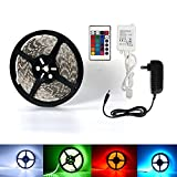 Bestsupplier INC Led Strip Light, 16.4ft 5M Flexible 150 Leds Color Changing RGB SMD 5050, Waterproof, with 24 Keys Remote and 12V Power Supply