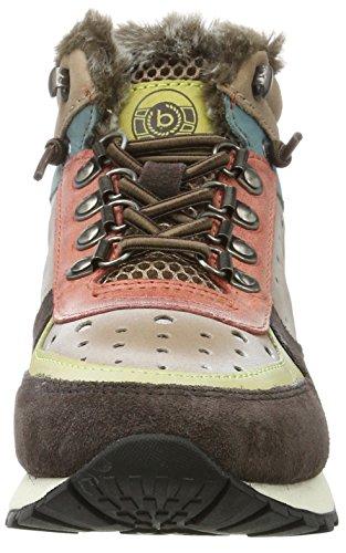 Bugatti Damen 421285501435 Hohe Sneaker Braun (Dark Brown/ Multicolour)