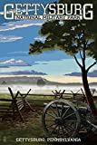 Gettysburg, Pennsylvania - Military Park (12x18 Collectible Art Print, Wall Decor Travel Poster)