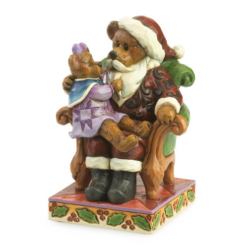 - Boyds Jim Shore Santa with Holly...Christmas Wishes Figurine