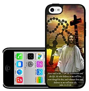 Bible Verse John Chapter 11 Verse 25-26 Hard Snap on Phone Case (iPhone 5s for you)