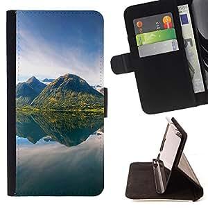 For Samsung Galaxy S6 - Nature /Funda de piel cubierta de la carpeta Foilo con cierre magn???¡¯????tico/ - Super Marley Shop -