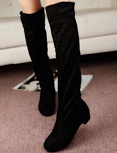 Eu36 Xzz Tacón De 5 Brown Piel Mujer 5 Comfort Casual Bajo Zapatos us5 Sintética Negro Vestido 5 Uk6 us8 Azul 5 Cn35 Uk3 Marrón Eu39 Black Botas Cn40 rSwqtCrH