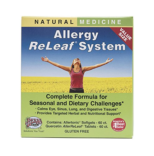 Allergy ReLeaf System - Natural Herbal Dietary Supplement - Safe and Effective Allergy Remedy - Promotes Sinus, Nasal, & Bronchial Health- Non Drowsy - 60 Softgels + 60 Tablets - Herbs Etc from Herbs Etc.