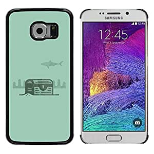 LECELL--Funda protectora / Cubierta / Piel For Samsung Galaxy S6 EDGE SM-G925 -- Green Treasure Diving Diver Underwater --