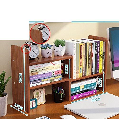 JX&BOOS Table bookshelf,Simple children desktop bookshelf office desk storage rack dormitory bookcase-L (National Office Furniture L-desk)