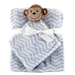 Hudson Baby Plush Security Blanket Set, Monkey