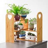 Solid Wood Original Color Flower Stand Multi - Storey Flower Shelf Balcony Living Room Flower Pot Rack Rack