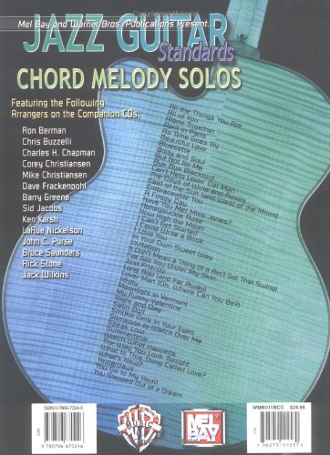 Amazon.com: Mel Bay Jazz Guitar Standards Chord Melody Solos (Book ...